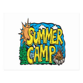 Campamento de verano postales