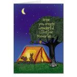 Campamento de verano - Srta. usted - tarjeta de fe