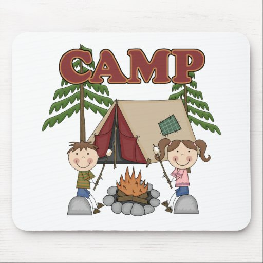 Campamento de verano tapete de ratón