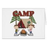 Campamento de verano tarjetas