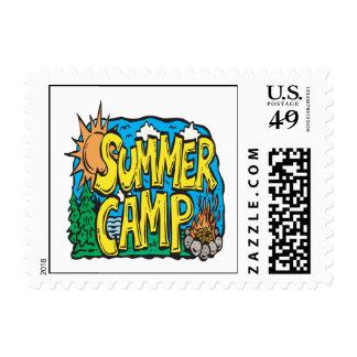 Campamento de verano timbres postales