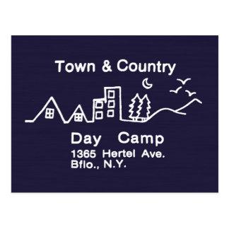 Campamento diurno de la ciudad y del país postales