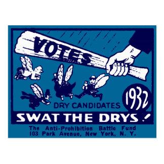 Campaña 1932 de la Anti-Prohibición Postales
