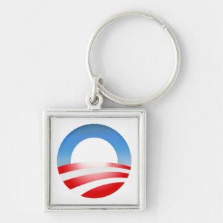 Campaña 2012 de presidente Barack Obama Llavero Cuadrado Plateado