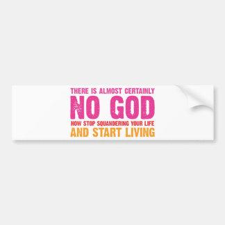 Campaña atea: No hay casi ciertamente dios Pegatina Para Auto