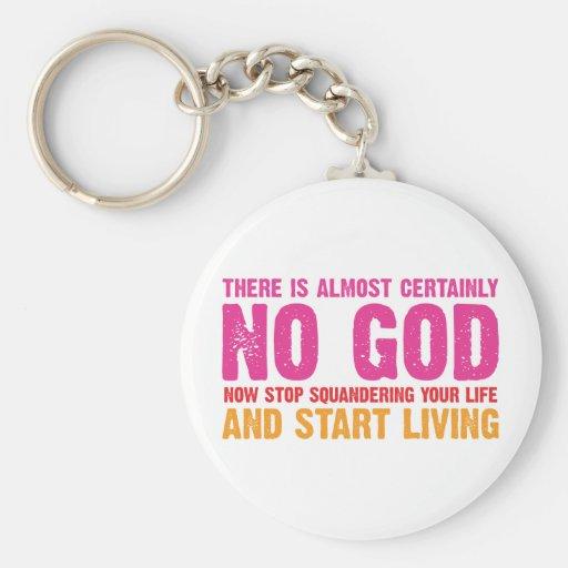 Campaña atea: No hay casi ciertamente dios Llavero Redondo Tipo Pin