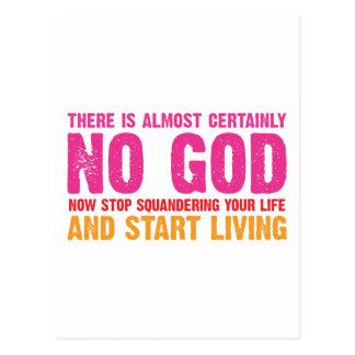 Campaña atea No hay casi ciertamente dios Tarjeta Postal
