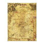 Campaña de Atlanta - mapa panorámico de la guerra  Impresión En Lienzo Estirada