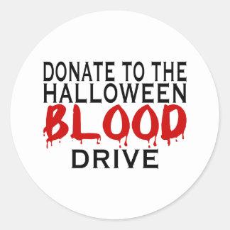 Campaña de donación de sangre pegatina redonda