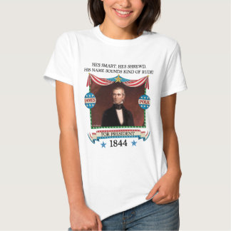 Campaña de James K. Polk 1844 (camisa ligera para Playera