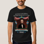 Campaña de James K. Polk 1844 (camisa oscura para Remeras