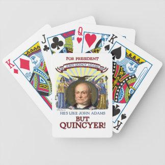 Campaña de John Quincy Adams 1824 Baraja Cartas De Poker