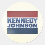 Campaña de Kennedy Johnson Etiqueta Redonda