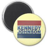 Campaña de Kennedy Johnson Imán Redondo 5 Cm
