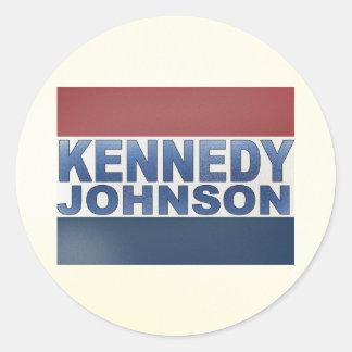 Campaña de Kennedy Johnson Pegatina Redonda