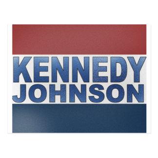 Campaña de Kennedy Johnson Tarjeta Postal