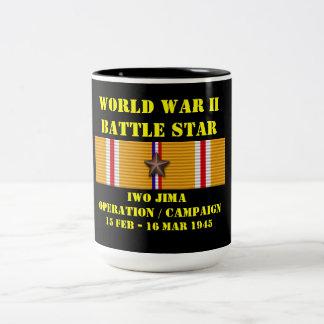 Campaña de la operación de Iwo Jima Taza De Dos Tonos