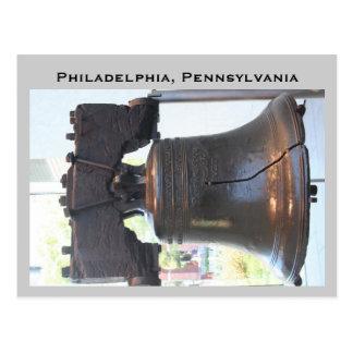 campana de libertad Philadelphia Pennsylvania Tarjeta Postal