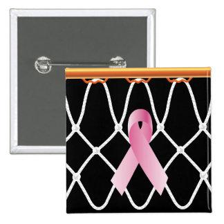 Campaña de Net_ribbon del aro de baloncesto Pin Cuadrado
