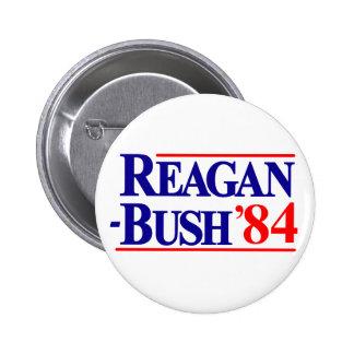 Campaña de Reagan Bush 1984 Chapa Redonda 5 Cm