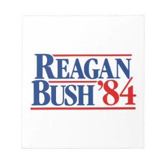 Campaña de Reagan Bush '84 Bloc De Notas