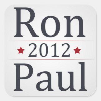 Campaña de Ron Paul 2012 Calcomania Cuadradas Personalizada