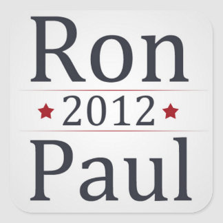 Campaña de Ron Paul 2012 Pegatina Cuadrada