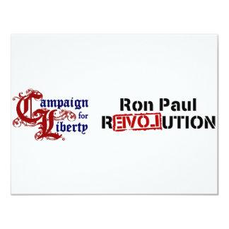 Campaña de Ron Paul para la revolución de la Invitación 10,8 X 13,9 Cm