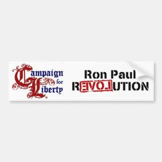 Campaña de Ron Paul para la revolución de la liber Etiqueta De Parachoque