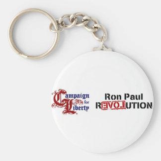 Campaña de Ron Paul para la revolución de la Llavero Redondo Tipo Pin
