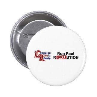 Campaña de Ron Paul para la revolución de la Pin Redondo De 2 Pulgadas