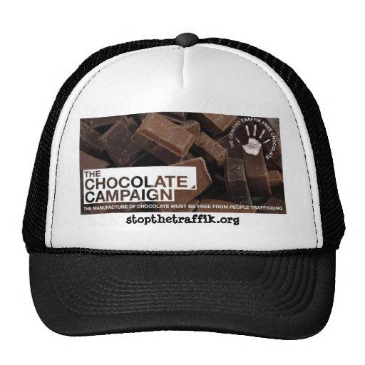 Campaña del chocolate gorros bordados