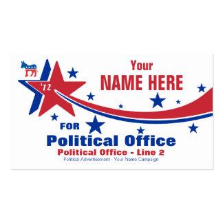 Campaña electoral de política de Demócrata Tarjetas De Visita