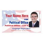 Campaña electoral de política independiente tarjetas de visita