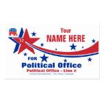 Campaña electoral de política republicana plantilla de tarjeta personal