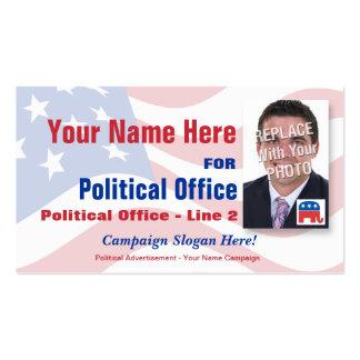 Campaña electoral de política republicana plantilla de tarjeta de visita