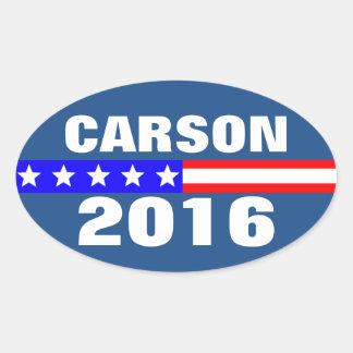 Campaña electoral de presidencial de Carson 2016 Pegatina Ovalada