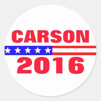 Campaña electoral de presidencial de Carson 2016 Pegatina Redonda