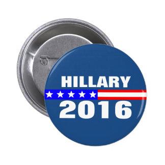 Campaña electoral de presidencial de Hillary 2016 Pin Redondo 5 Cm