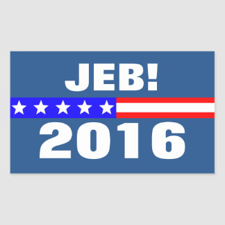 Campaña electoral de presidencial de Jeb 2016 Pegatina Rectangular