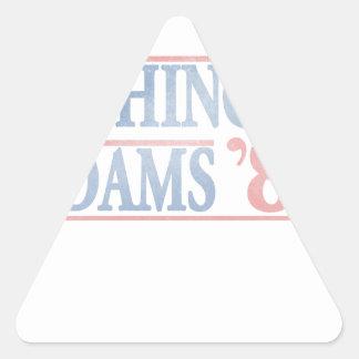 Campaña electoral del vintage apenada pegatina triangular