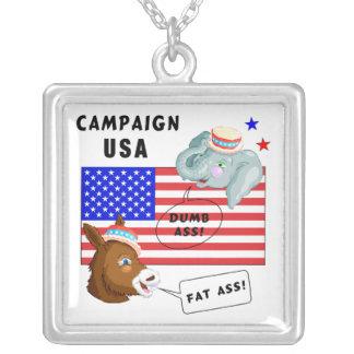 Campaña los E.E.U.U. del día de elección Colgante Cuadrado