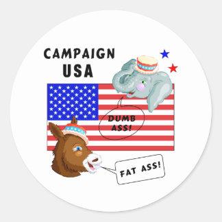 Campaña los E.E.U.U. del día de elección Pegatina Redonda
