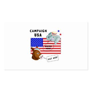 Campaña los E.E.U.U. del día de elección Tarjetas De Visita