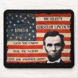 Campaña Mousepad de Abraham Lincoln 1864 Tapetes De Raton
