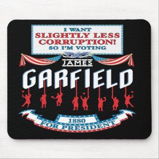 Campaña Mousepad de James Garfield 1880 Alfombrillas De Ratones