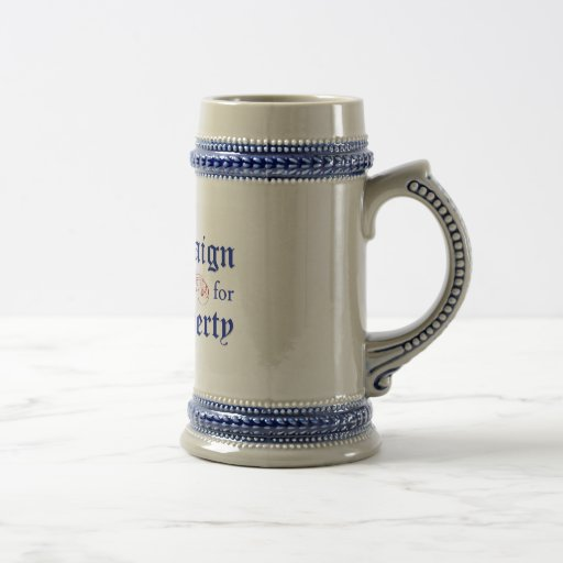 Campaña para el azul Stein del logotipo de la libe Tazas