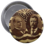 Campaña para el botón de McKinley/de Roosevelt Pin