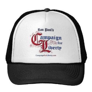 Campaña para el gorra RON PAUL de la libertad