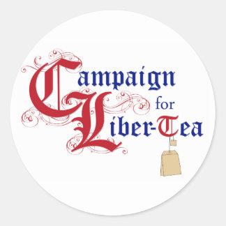 Campaña para el Liber-Té Pegatinas Redondas